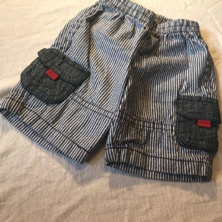 3 Month Blue Striped Shorts